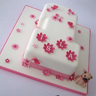 Pretty 1st Birthday Cake
