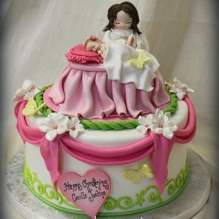 Sweet Christening Cake - Cake by Sandrascakes