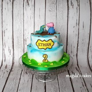 George and dinosaur :) - Cake by Magda's Cakes (Magda Pietkiewicz)