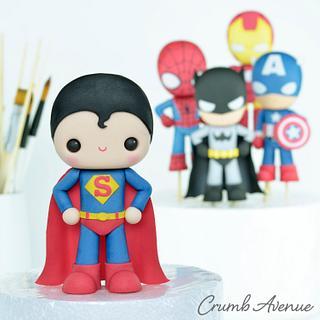 Cute Superhero Cake Topper