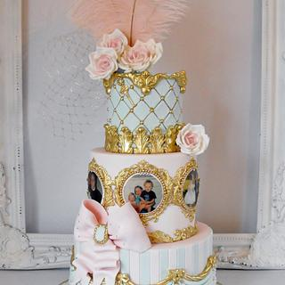 Antoinette inspired 16th birthday cake