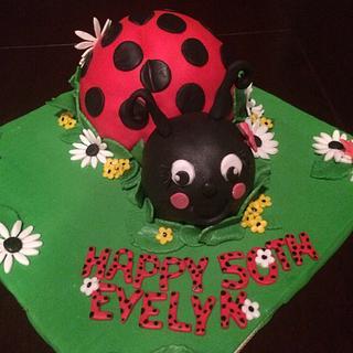 Ladybug cake  - Cake by Cakes by Crissy