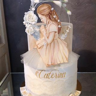 The first Communion of Caterina - Cake by Le dolci creazioni di Rena