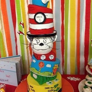 Dr. Seuss topsy turvey cake - Cake by Sweettreatsbyortal