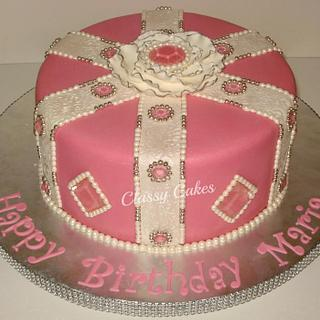 Gems and Pearls - Cake by Classy Cakes By Diane