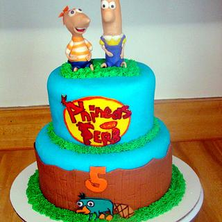 Phineas and Ferb - Cake by Ebony