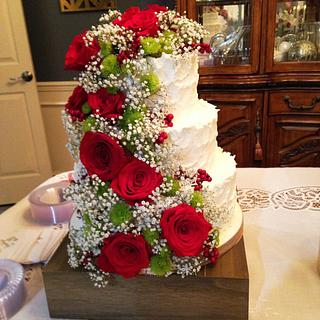 Floral Wedding Cake - Cake by Cakes For Fun