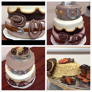 Cowboy Cake Collage