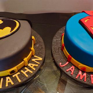 """""""Crime Fighting Duo"""" - Cake by Lisa"""
