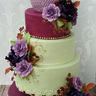A romantic Weddingcake