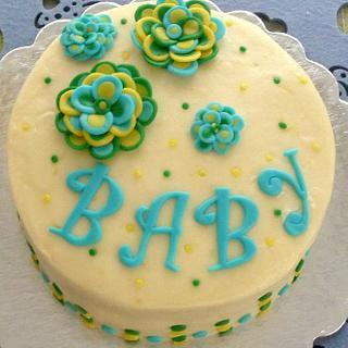 Lemon-Lime Baby Shower cake