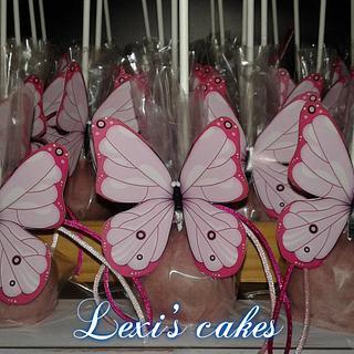 butterfly cakepops - Cake by alexialakki