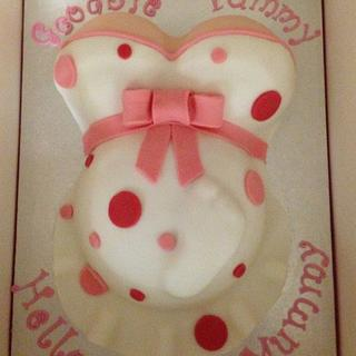 My First Baby Bump Cake & Cupcakes - Baby Girl