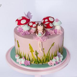 Paiges Toadstools In the Garden Cake