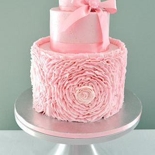 The Sugar Nursery's Ruffle Rose Cake - Cake by The Sugar Nursery - Cake Shop & Imaginarium