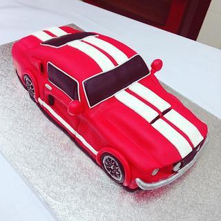 Mustang GT500 1967 classic car cake