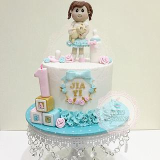 Sweet 1st birthday cake