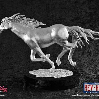 Realistic Wild Horse (Mustang) Chocolate Margarine Sculpture