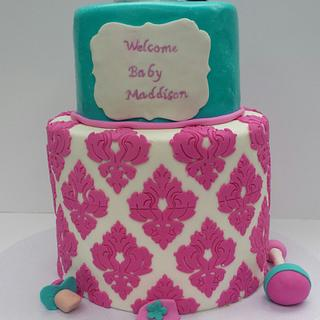 Damask Baby Shower