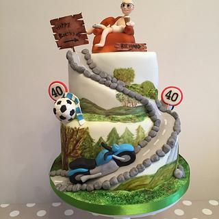 40th Birthday cake - Cake by Suzi Saunders