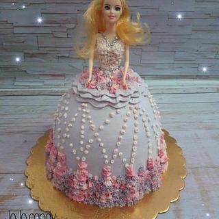 Barbie cake by hala