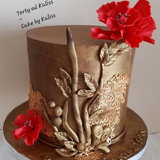 Golden birthday - Cake by Kaliss