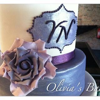 Purple Wedding - Cake by Olivia's Bakery
