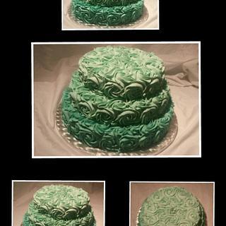 Buttercream ombre rosettes!  - Cake by Jenny Edman