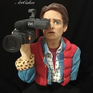 Michael J Fox - Back to the future  - Cake by Karin Rachell Saade Morad