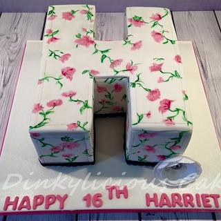 """H"" cake"
