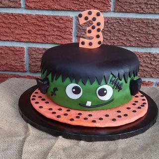 Frankenstein Birthday Cake for Carlos