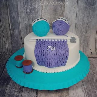 Wool Cake for 70th birtday