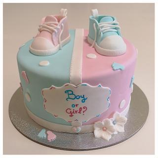 Gender reveal Cake - Cake by Sweet Mania