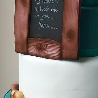 Pebbles Wedding Cake