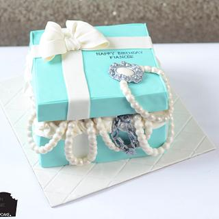 Tiffany gift box cake!