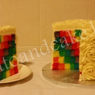 Rainbow cake or Rose cake?!!!!!