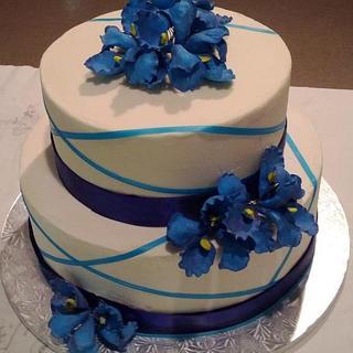 Iris sugar flower birthday cake - Cake by Whitney