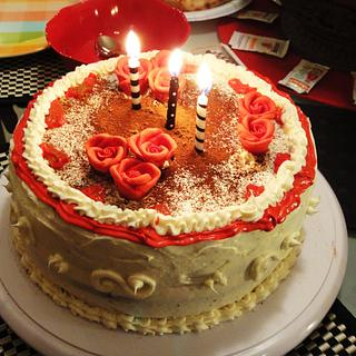Abbie's 25th Birthday Cake - Cake by Sara's Baked Creations
