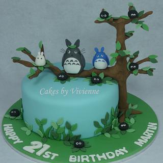 Totoro Birthday Cake - Cake by Cakes by Vivienne