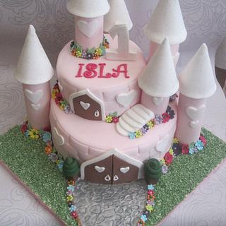 Baby's First Birthday Castle Cake,