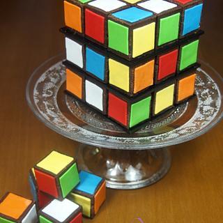 Rubik'Cube Cake
