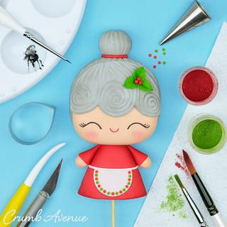 Mrs. Claus Cake Topper