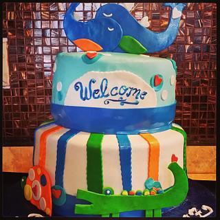 Ahoy Baby Shower Cake