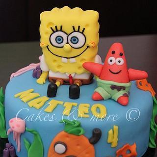 Spongebob and Patrick cake