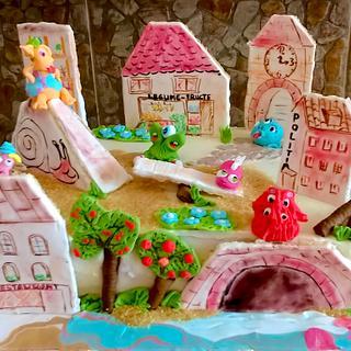 Richardville - Monster city - Cake by Crisan Monica/Mimi Cake Figurines