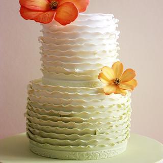 Cosmos Flower Cake