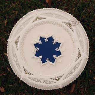 Wedgwood cameo cake