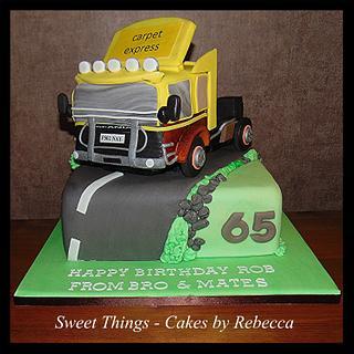 Truck cab cake