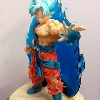Goku in cioccolato plastico e isomalto - Cake by simonelopezartist