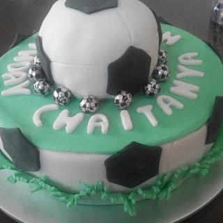 football theme cake - Cake by Heena Sagani